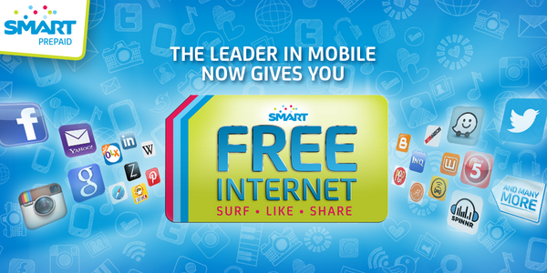 SMART Free Internet for Prepaid users, Talk 'N Text, & Sun Prepaid subscribers