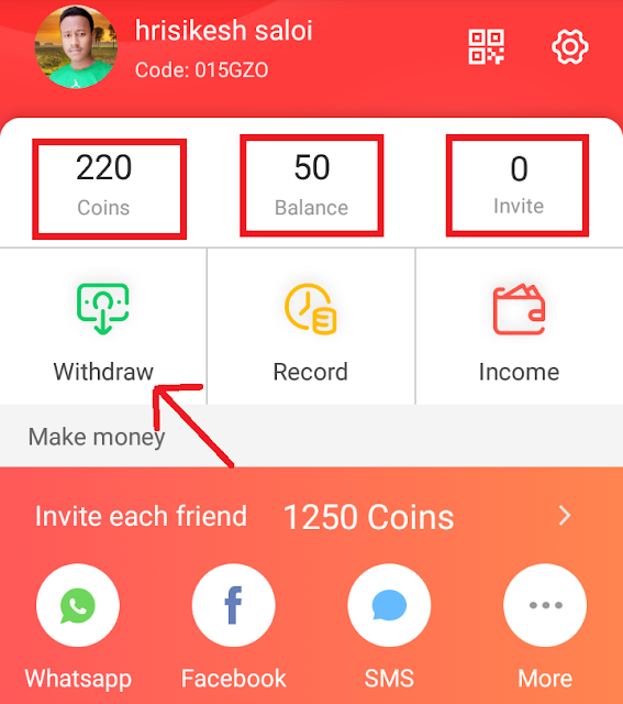 RozDhan App Refer And Earn Paytm Cash : Rs. 50 Paytm Joining + Get 1,250 Coins Per Referral.