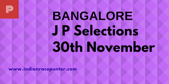 Bangalore Jackpot Selections 30th November