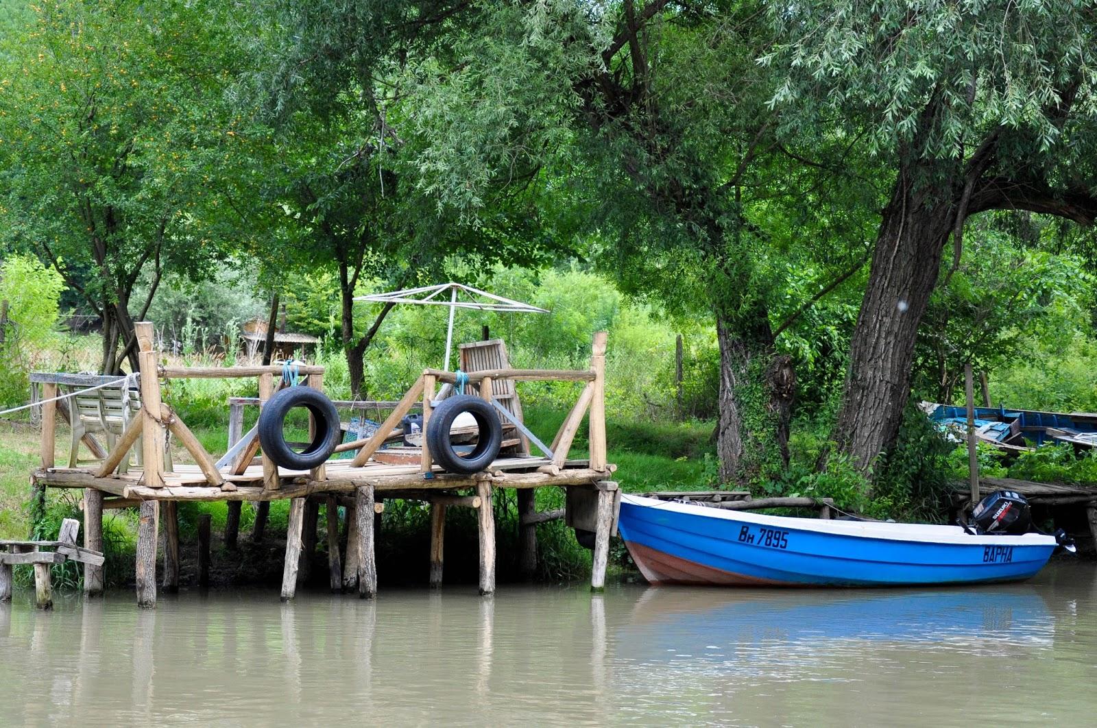 A ramshackle quay, Kamchia river, Bulgaria