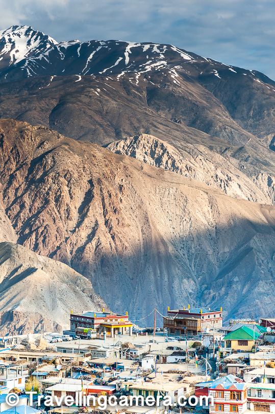 I love the way above photograph shows the scale of the place. These is Nako village in the bottom with huge mountains in the background. Although I am not happy with the composition & overall tonality of the photograph, but I found it worth sharing.