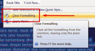 merapikan tulisan ms word