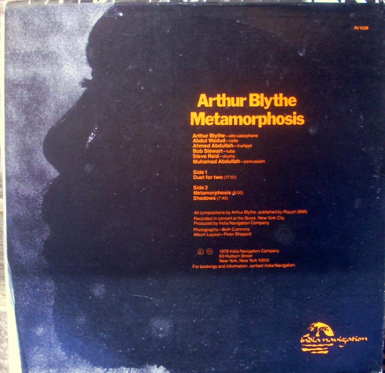 inconstant sol: Arthur Blythe-The Grip & Metamorphosis-1977