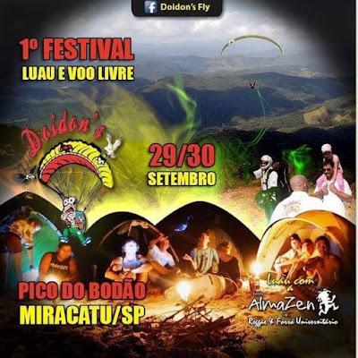 1° Festival - Luau e Voo Livre de Miracatu no Vale do Ribeira