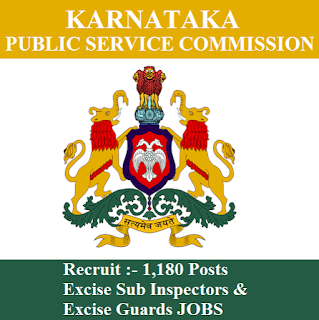 Karnataka Public Service Commission, KPSC, PSC, Karnataka, 10th, Excise Sub Inspector, Excise Guard, freejobalert, Sarkari Naukri, Latest Jobs, Hot Jobs, kpsc logo