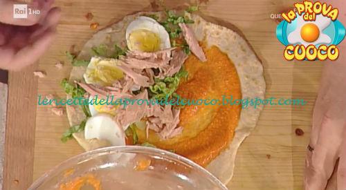 Piadina farcita ricetta Persegani Mainardi e Povedilla da Prova del Cuoco