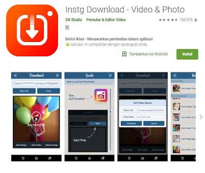 Aplikasi Download Video dan Foto IG atau Instagram
