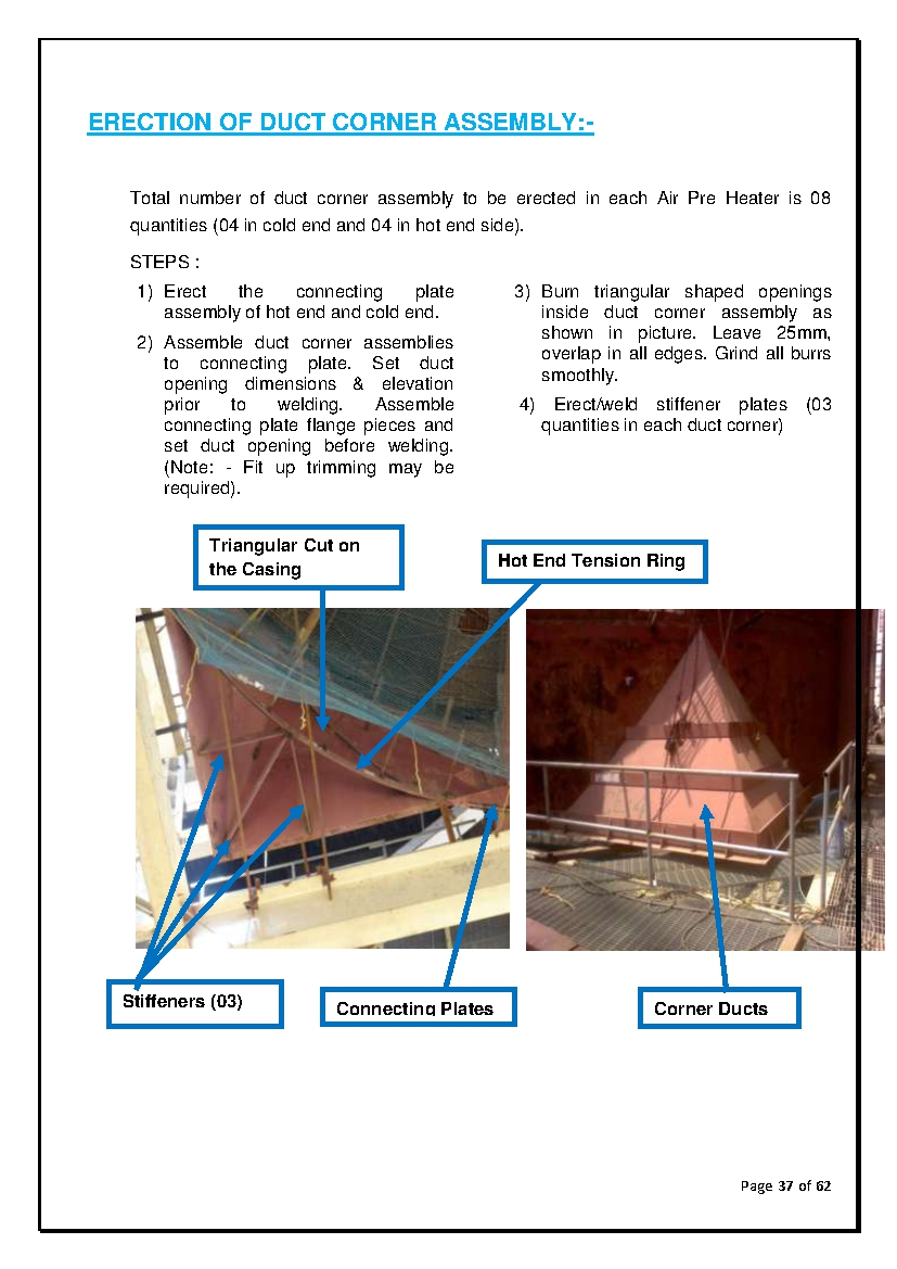 Abc Of Thermal Power Plant Erection Of Air Preheater For