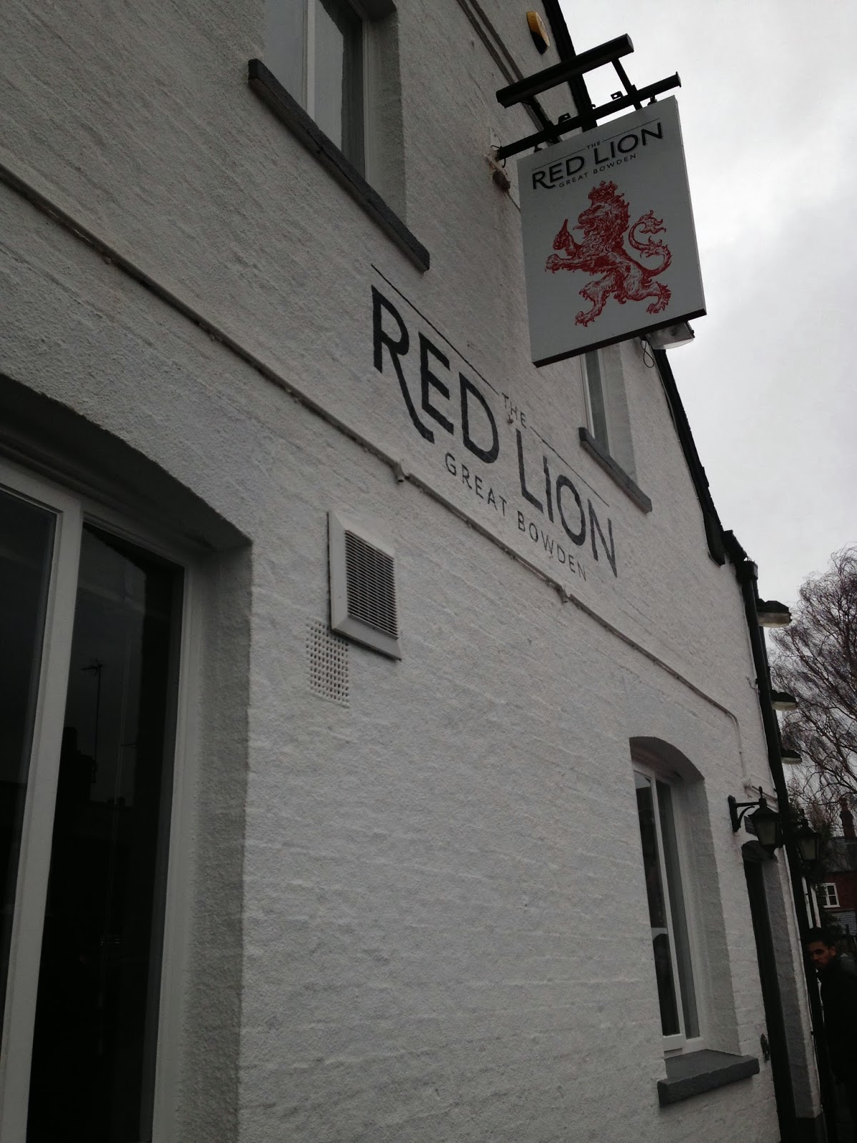 The Red Lion Hanging Sign