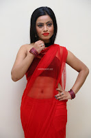 Aasma Syed in Red Saree Sleeveless Black Choli Spicy Pics ~  Exclusive Celebrities Galleries 102.jpg