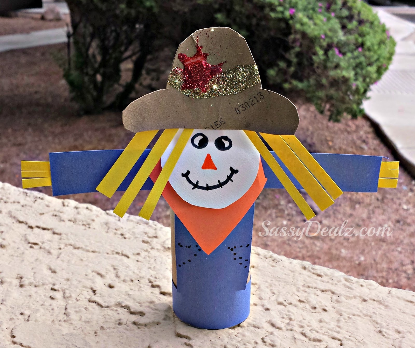 Scarecrow Toilet Paper Roll Craft For Kid S Halloween