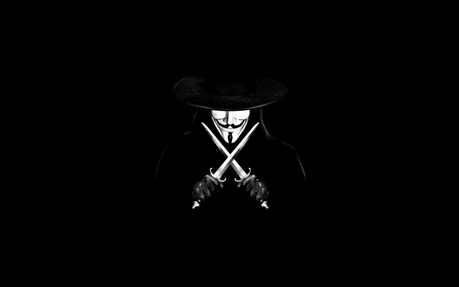Kaliteli Resim: V For Vendetta Poster, Guy Fawkes Mask & Logos HD Wallpapers