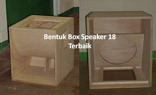 """Facesiana :  Bentuk Box speaker 18"""" subwoofer yang bagus"""