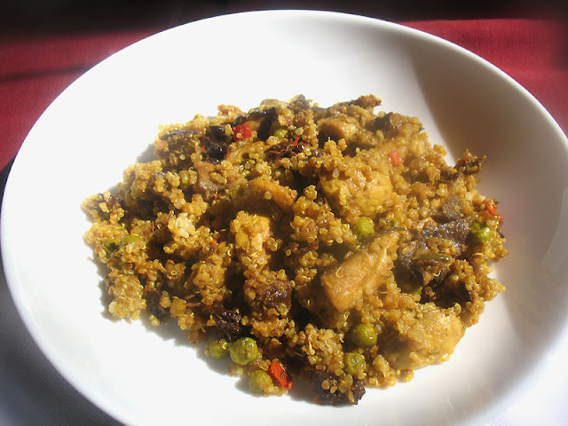 Quinoa with Mushrooms and Sun-Dried Tomatoes