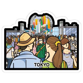 gotochi postcard Carrefour de Shibuya