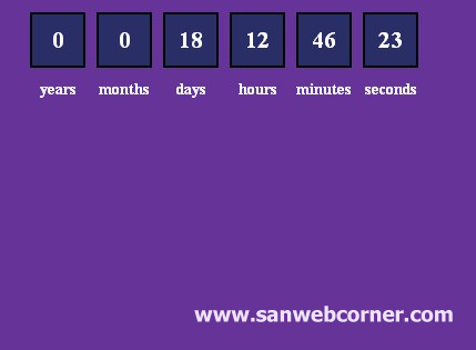 Simple Countdown based on Date using JavaScript