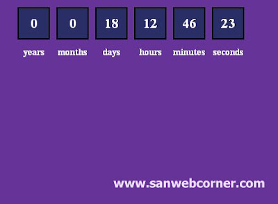 countdown based on date