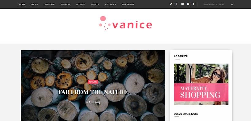 Vanice Free Blogger Template