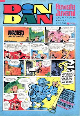 Portada de Din Dan 2ª nº 173 (17 de mayo de 1971)
