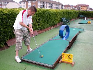 Mini Golf at the Greensward Cafe in Clacton-on-Sea, Essex