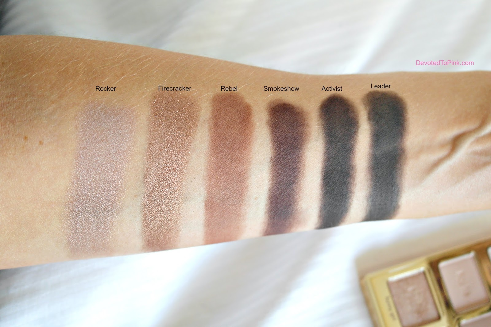 Tarte cosmetics Tartelette 2 in bloom palette swatches