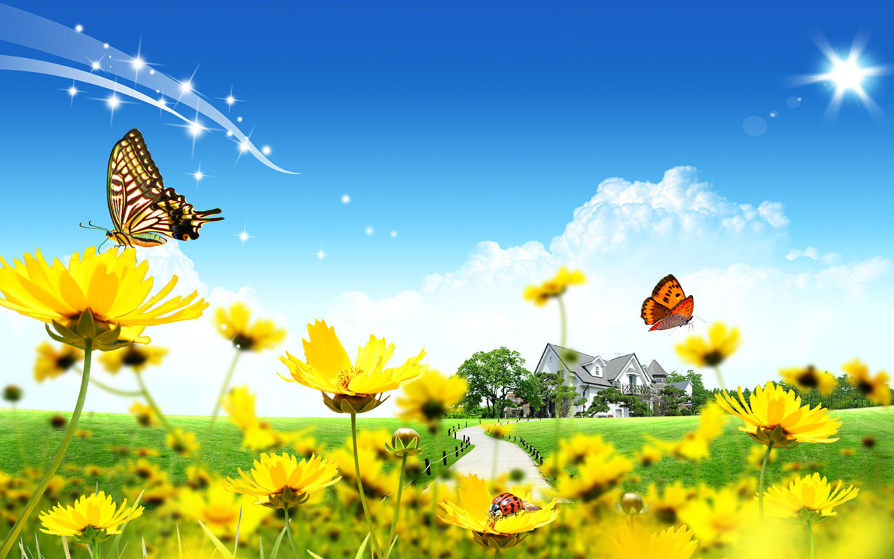 Cartoon Garden Wallpaper, Free Cartoon Wallpaper