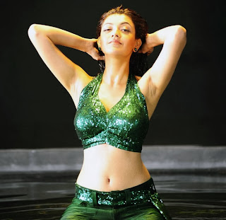 kajal spicy navel and armpits exposing still