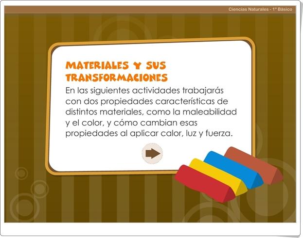 """""""Materiales y sus transformaciones"""" (Juego de Ciencias Naturales de Primaria)"""