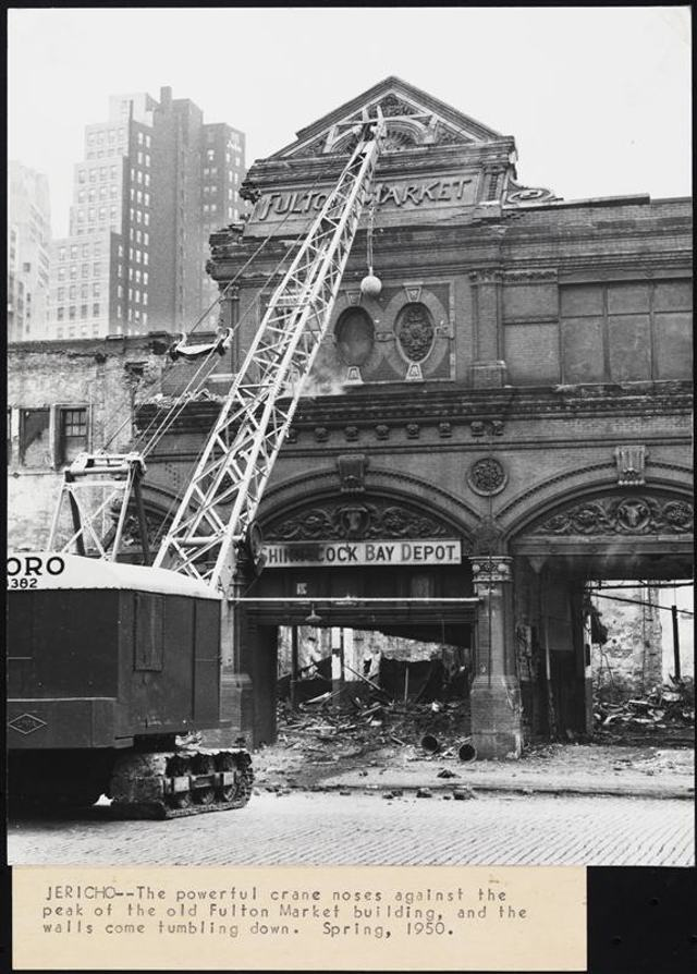 All The Girls Standing In The Line For The Bathroom: Old Photos Of New York's Buildings Being Demolished