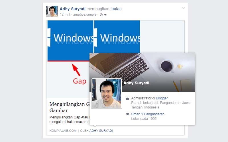 Agar Link Profil Pada Share Post Facebook Menjadi Url Hidup
