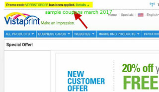 free Vistaprint coupons march 2017