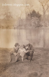 Lucille and Orvin Davis and Orvin Jr. 1927 Shenandoah, Virginia