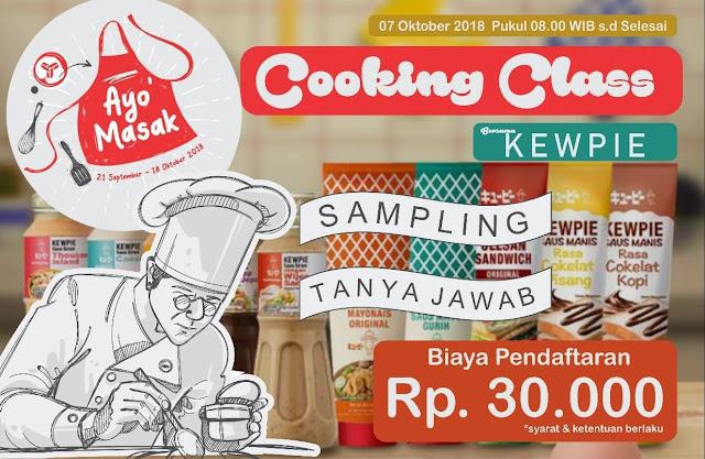 Ayo Cooking Class 18 Oktober Bersama Kewpie
