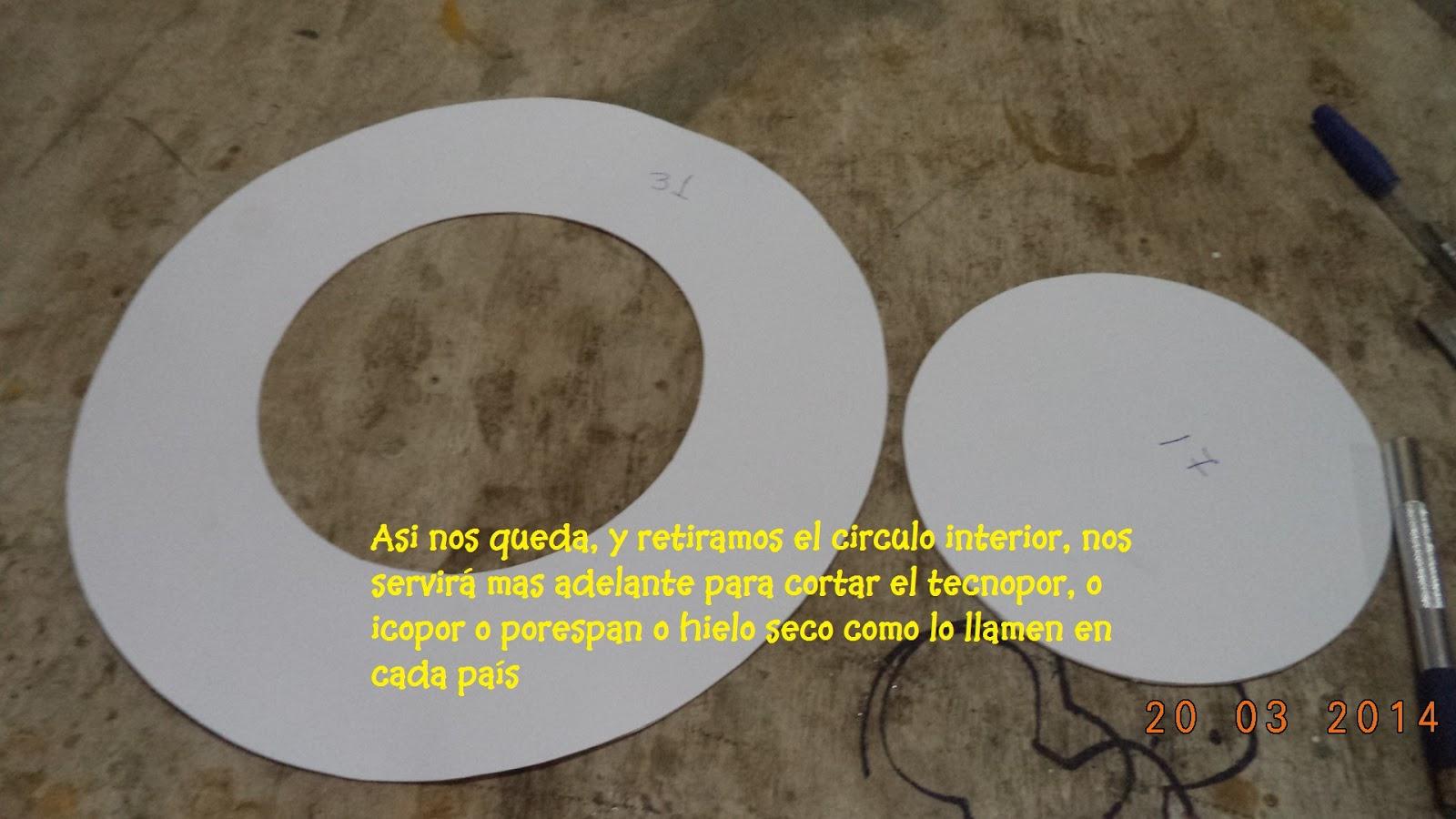 935431efac74d Hacemos un circulo de 31 cm con uno circulo de 17 cm en el centro