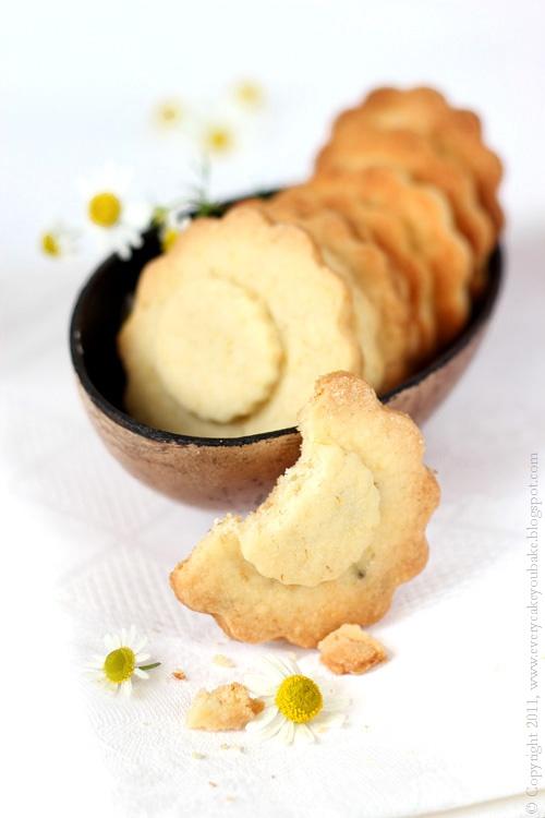 kruche ciasteczka rumiankowe
