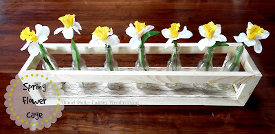 springtime centerpiece chicken wire flower cage recycled