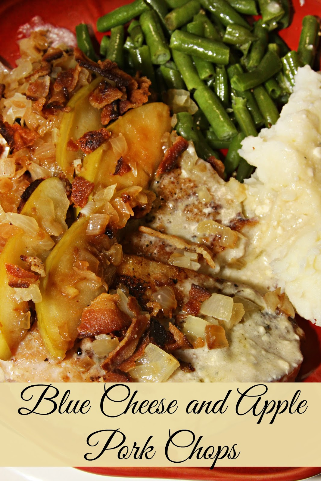 Savory Blue Cheese And Apple Pork Chops
