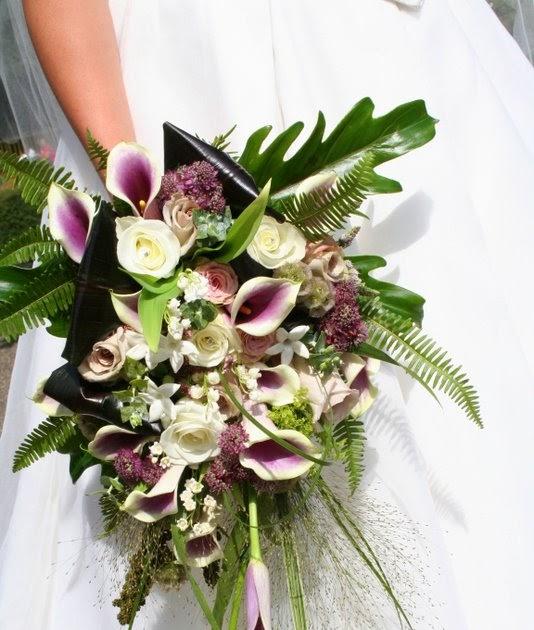 Wedding Flowers Lancashire: The Flower Magician: Cascade Wedding Bouquet In Vintage