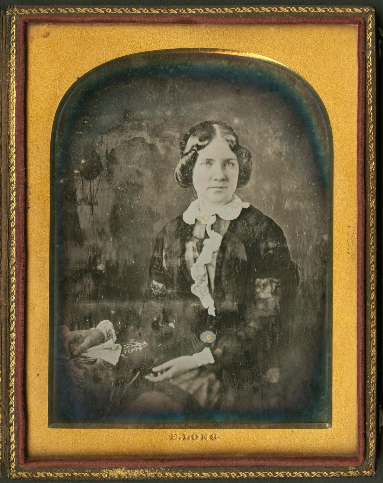 A daguerrotype of Jenny Lind.
