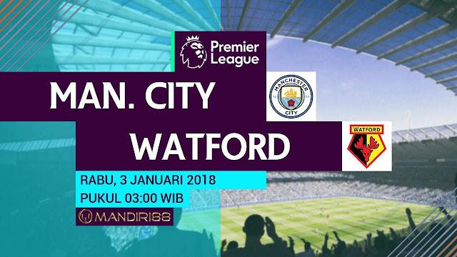 Manchester City vs Watford 3 Januari 2018