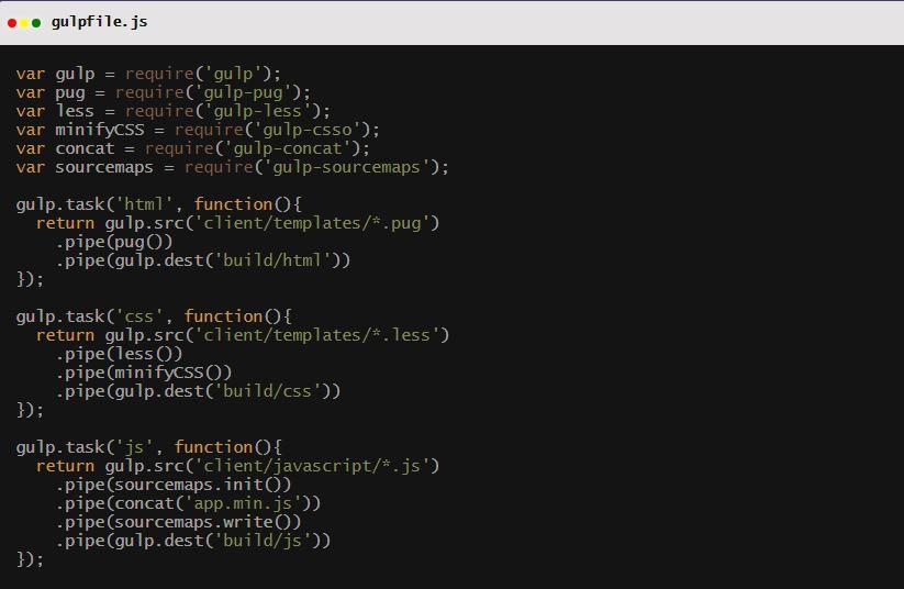Gulp.js open-source JavaScript toolkit
