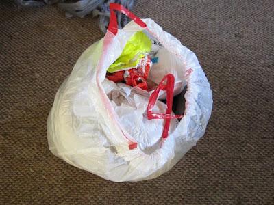 plarn, hoarding, grocery bags, finger crochet, plarn rug