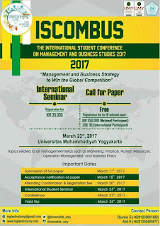 International Student Conference on Management and Business Studies (ISCOMBUS) 2017