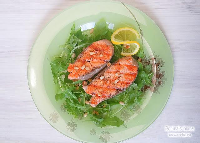 Как приготовить лосося на гриль-сковороде?