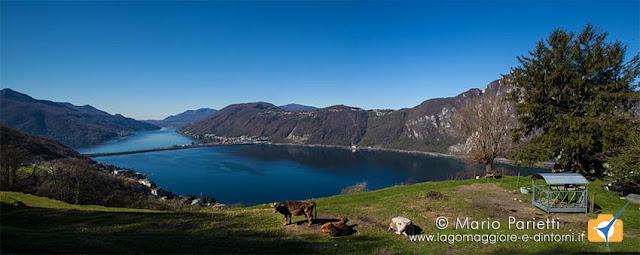 Panorama sul lago di Lugano