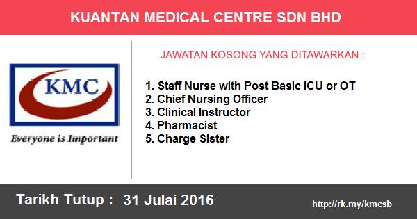 Jawatan Kosong di Kuantan Medical Centre Sdn Bhd