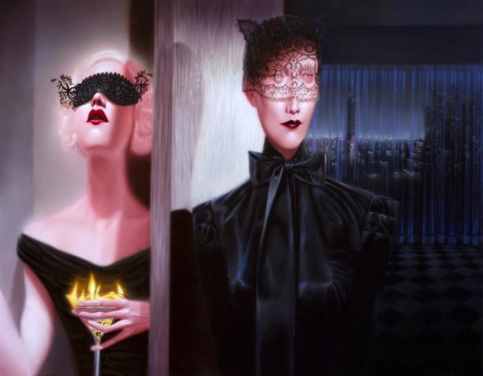 Удлиненные тела с вытянутыми лицами. Troy Brooks