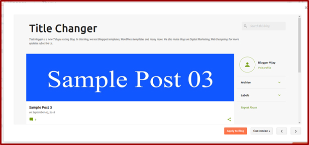 Lesson #6 | How to Change Themes in Blogger in Telugu 8