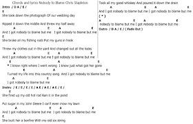 """À¸""""อร À¸""""เพลง Chords And Lyrics Nobody To Blame Chris Stapleton 15,001 views, added to favorites 407 times. chords and lyrics nobody to blame chris"""