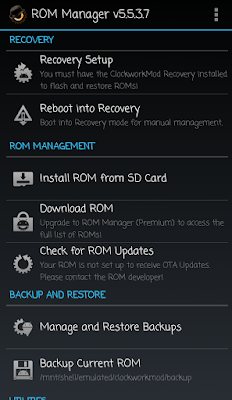Rom Manager on Android